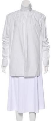 Dries Van Noten Striped Long Sleeve Blouse