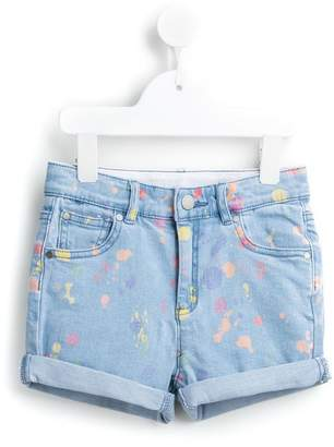 Stella McCartney 'Emma' splat denim shorts