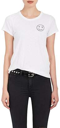 Rag & Bone Women's Love Face Embroidered Cotton T-Shirt