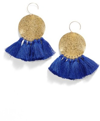 Women's Serefina Lunar Tassel Earrings $75 thestylecure.com