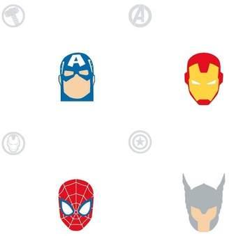 Marvel Rommates Avengers Character Spot Peel & Stick Wallpaper