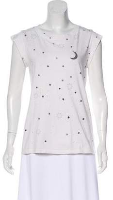 Mother Printed Short Sleeve Top