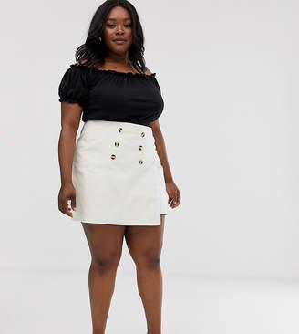 Urban Bliss Plus wrap front denim mini skirt