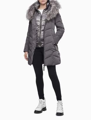 Calvin Klein Faux Fur Hood Puffer Coat