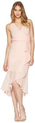 Bebe Wrap Maxi Dress Women's Dress