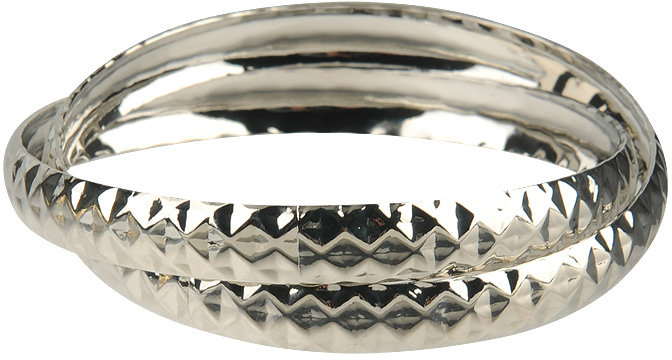 Faceted Metal Bangles