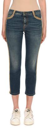 Ermanno Scervino Slim Fit Side-Embellished Jeans