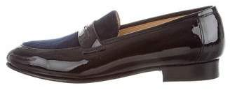 Dieppa Restrepo Patent Leather & Velvet Loafers