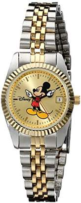 EWatchFactory Disney Women's MM0061 Two-Tone Mickey Mouse Watch with Date Movement