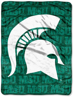 Northwest Company Michigan State Spartans Micro Raschel Grunge Blanket