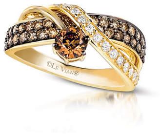 Le Vian Chocolatier LEVIAN CORP Grand Sample Sale by Chocolate & Vanilla Diamonds Ring in 14k Honey Gold