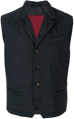 Eleventy button-down fitted waistcoat