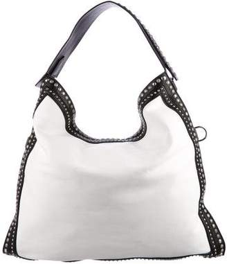 Givenchy Studded Canvas & Leather Hobo Bag