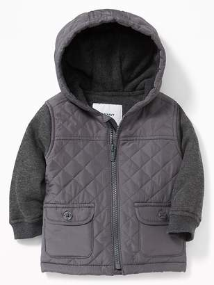 Old Navy Quilted Micro Performance Fleece-Lined Hooded Jacket for Baby
