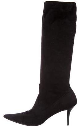 Casadei Pointed-Toe Mid-Calf Boots