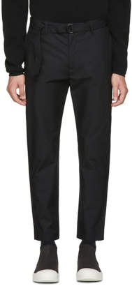 Undecorated Man Black Slim Trousers