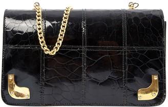 Zenith Black Patent leather Clutch Bag
