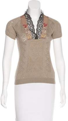 Christian Lacroix Cashmere & Wool-Blend Top