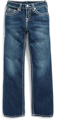 Boy's True Religion Brand Jeans 'Ricky - Super T' Straight Leg Jeans $129 thestylecure.com