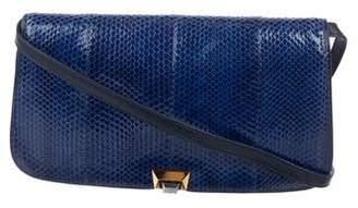 Gucci Vintage Snakeskin Flap Bag