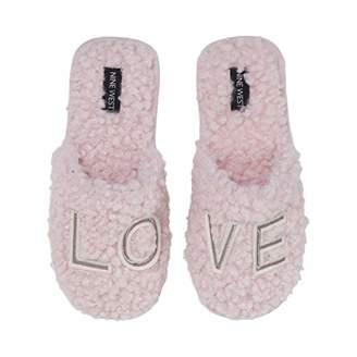 Dearfoams Women's Novelty Scuff with Love Applique Slipper