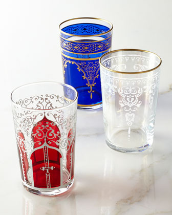 """Six """"Moroccan"""" Tea Glasses"""