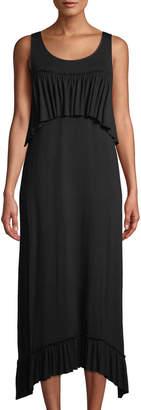 Kensie Sleeveless Ruffle-Tiered Maxi Dress