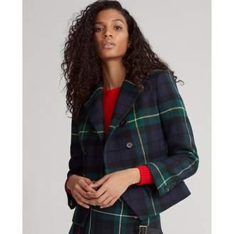 Ralph Lauren Tartan Wool-Blend Blazer