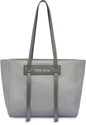 Miu Miu Leather Tote Bag - ShopStyle UK 6ed0631a4