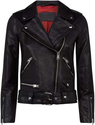 AllSaints Leather Estae Biker Jacket