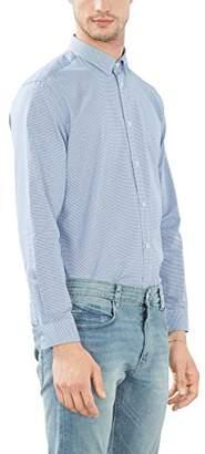 Esprit Men's 086EO2F015 Formal Shirt, Blue (Blue), (Manufacturer Size: 41)