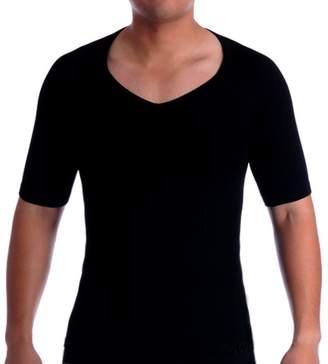 8bb76e263905e SODACODA Men s Compression Slimming V-Neck Undershirt