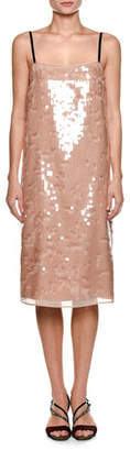 No.21 No. 21 Cipria Sleeveless Sequin Cocktail Dress