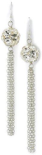 Susan Hanover Rhinestone Tassel Earrings
