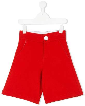 Marni contrast button shorts