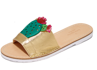 Kate Spade New York Iguana Cactus Slides $110 thestylecure.com