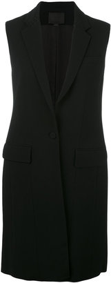 Alexander Wang lace-up detailed long gilet $895 thestylecure.com