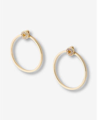 Express Pave Mini Open Circle Drop Earrings $16.90 thestylecure.com