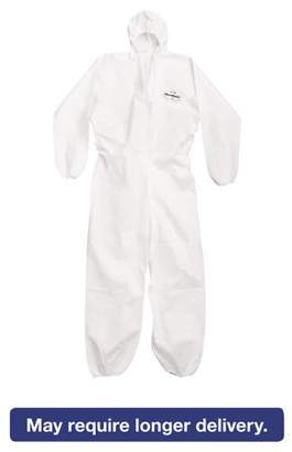 KLEENGUARD A20 Breathable Particle Protection Coveralls, Large, White, Zipper Front