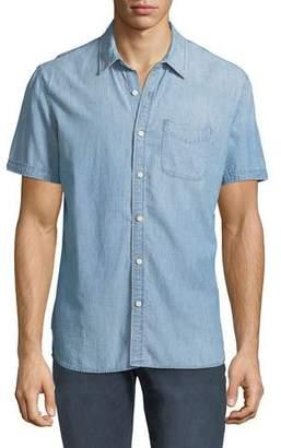 AG Jeans Men's Pearson Short-Sleeve Denim Sport Shirt