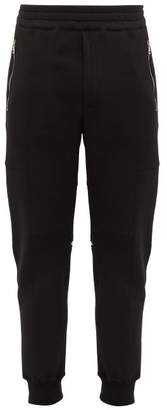 Alexander McQueen Zipped Cotton Track Pants - Mens - Black