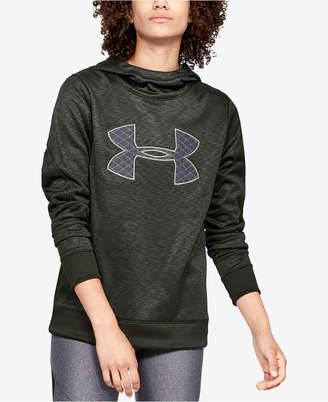 Under Armour Armour Fleece Printed Metallic-Logo Hoodie
