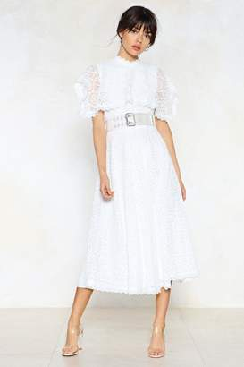 Nasty Gal At the Top of Your Game Lace Dress