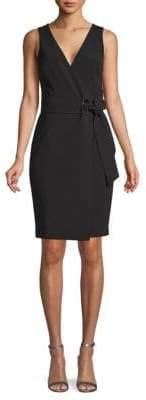 Badgley Mischka Sleeveless Wrap Dress