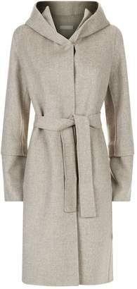 Max Mara Buttoned Cuff Hooded Coat
