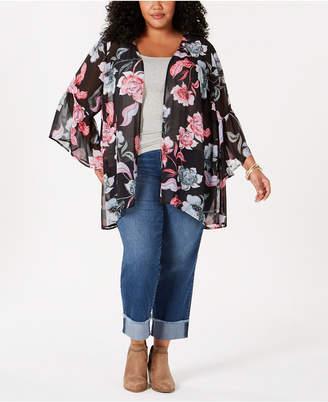 Style&Co. Style & Co Plus Size Printed Kimono