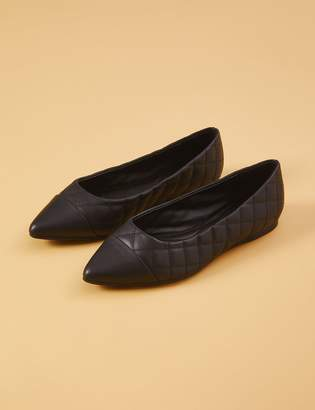 Quilted Pointed-Toe Flat
