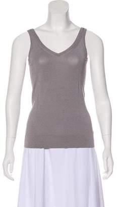 Donna Karan Sleeveless V-Neck Top