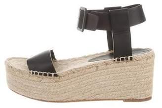 Vince Leather Flatform Espadrille Sandals
