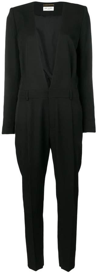 deep v-neck jumpsuit